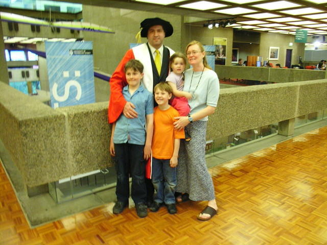 Magrath Family at graduation UTS 2006