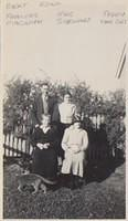 Back. Bert & Edna Magrath Front Frances Hannah Magrath & Mrs Stewart with Teddy the Cat.Proably at Bomen as Mrs Stewart
