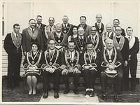 M.U.I.O.O.F. function. Albert Victor (Bert) Magrath 2nd from left standing